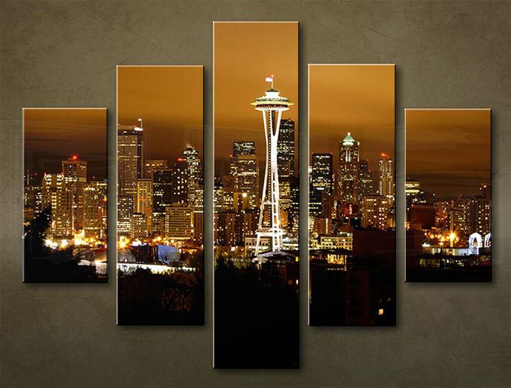 Image of Obraz na stenu 5 dielny MESTO MIA_0015_5EL (obraz na plátne)