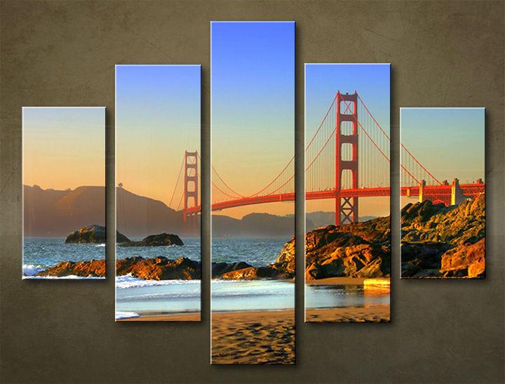 Image of Obraz na stenu 5 dielny MESTO MIA_0018_5EL (obraz na plátne)