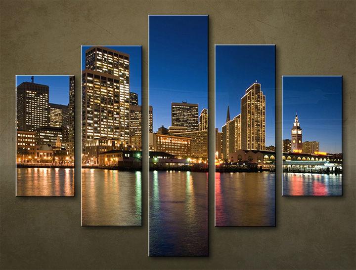 Image of Obraz na stenu 5 dielny MESTO MIA_0019_5EL (obraz na plátne)