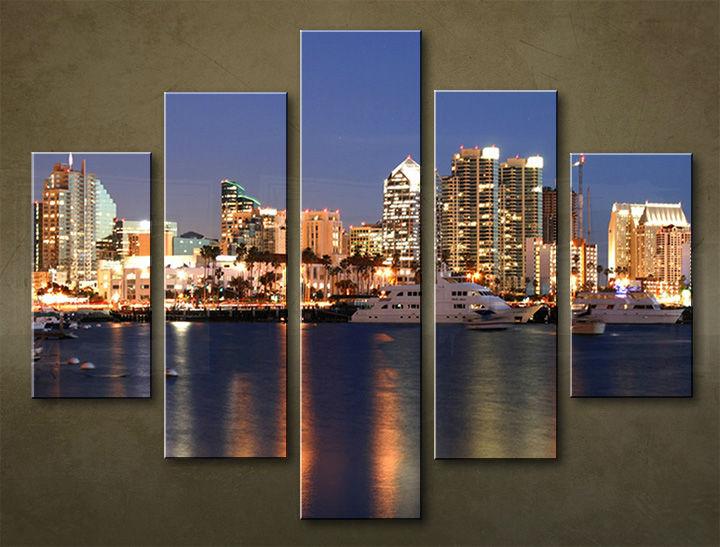 Image of Obraz na stenu 5 dielny MESTO MIA_0024_5EL (obraz na plátne)