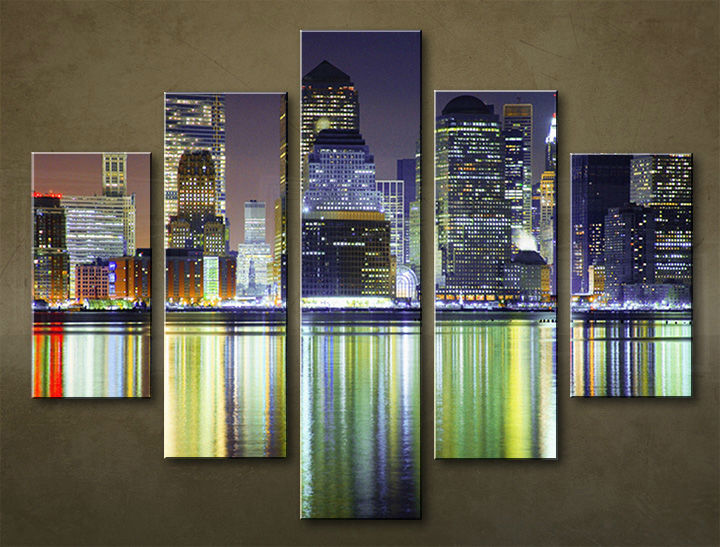 Image of Obraz na stenu 5 dielny MESTO MIA_0027_5EL (obraz na plátne)