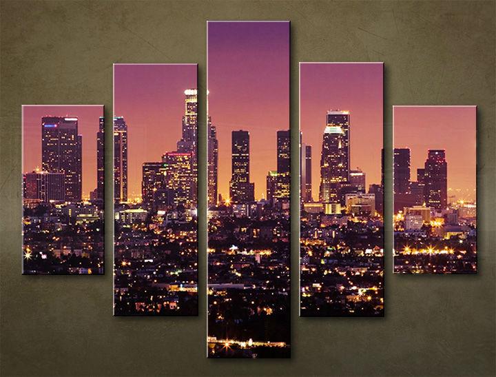 Image of Obraz na stenu 5 dielny MESTO MIA_0028_5EL (obraz na plátne)