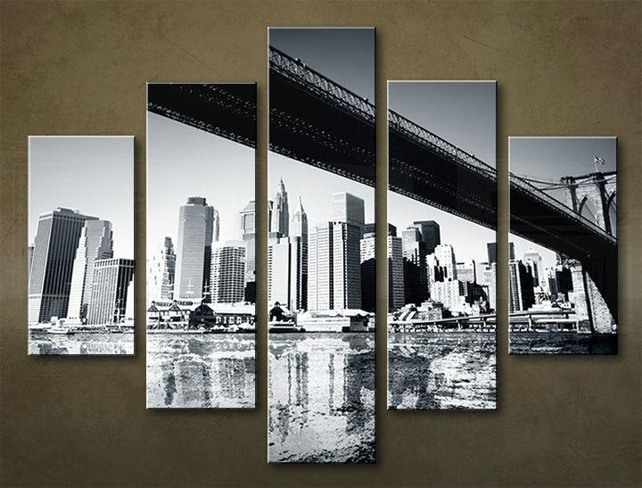 Image of Obraz na stenu 5 dielny MESTO MIA_0031_5EL (obraz na plátne)