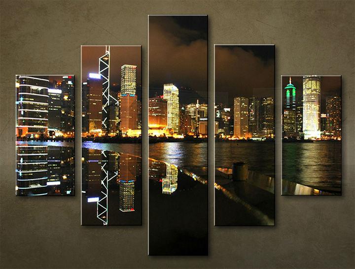 Image of Obraz na stenu 5 dielny MESTO MIA_0032_5EL (obraz na plátne)