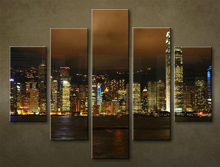 Image of Obraz na stenu 5 dielny MESTO MIA_0034_5EL (obraz na plátne)