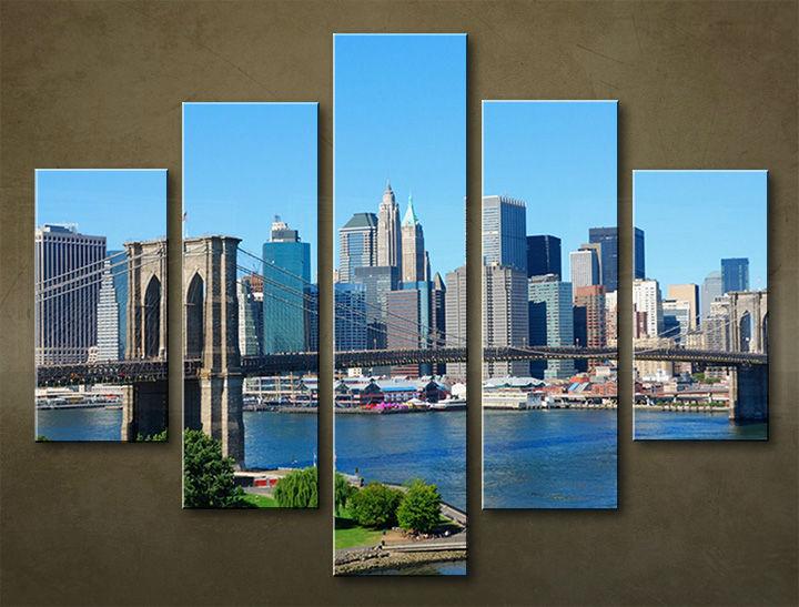 Image of Obraz na stenu 5 dielny MESTO MIA_0037_5EL (obraz na plátne)