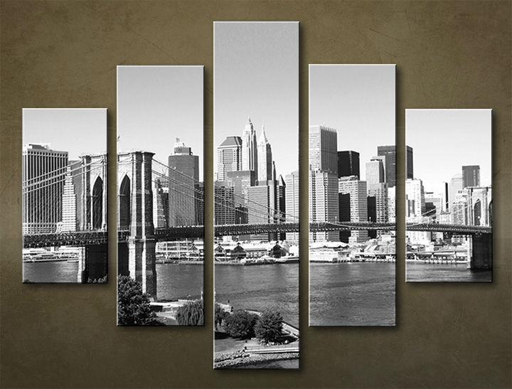 Image of Obraz na stenu 5 dielny MESTO MIA_0038_5EL (obraz na plátne)