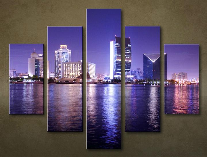Image of Obraz na stenu 5 dielny MESTO MIA_0039_5EL (obraz na plátne)