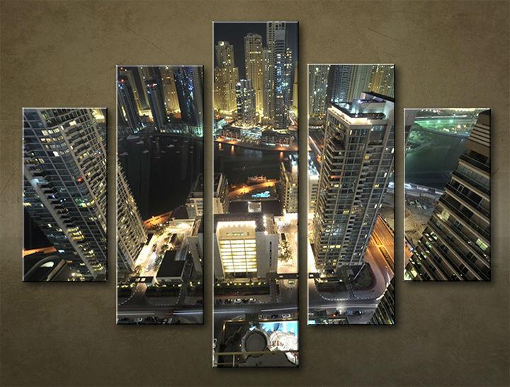 Image of Obraz na stenu 5 dielny MESTO MIA_0046_5EL (obraz na plátne)