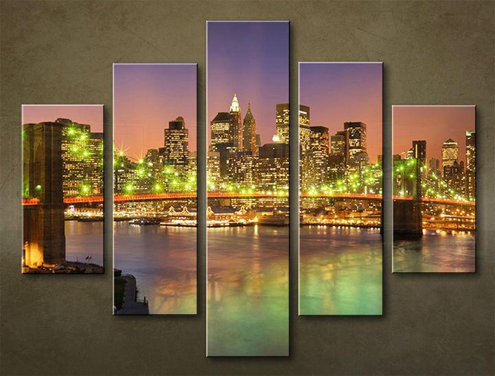 Image of Obraz na stenu 5 dielny MESTO MIA_0049_5EL (obraz na plátne)