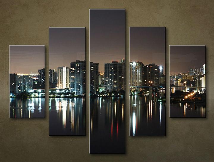 Image of Obraz na stenu 5 dielny MESTO MIA_0055_5EL (obraz na plátne)