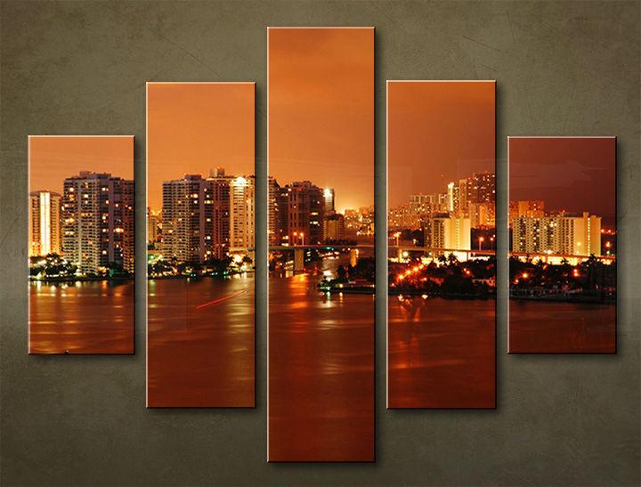 Image of Obraz na stenu 5 dielny MESTO MIA_0057_5EL (obraz na plátne)