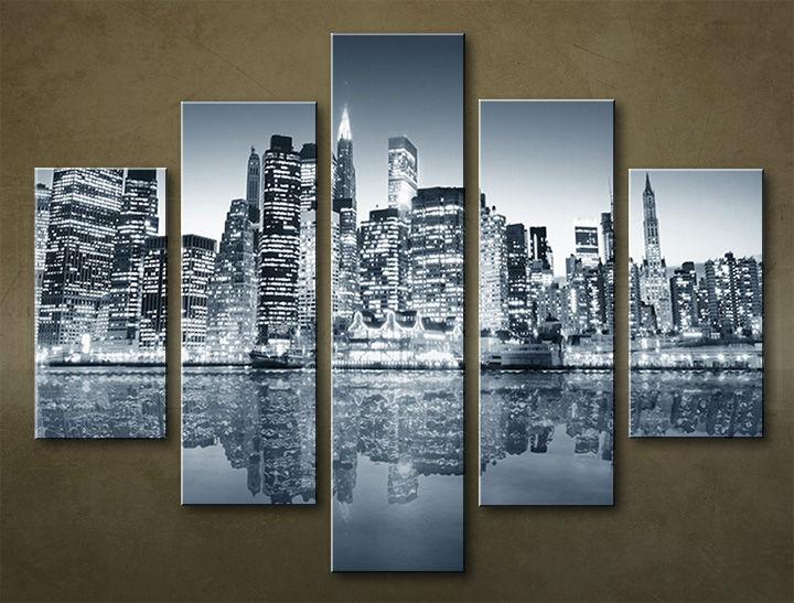 Image of Obraz na stenu 5 dielny MESTO MIA_0062_5EL (obraz na plátne)