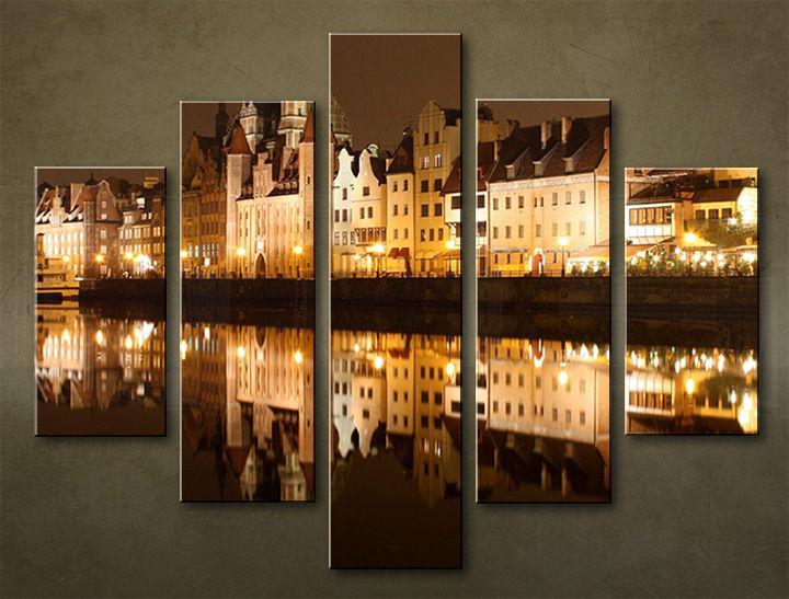 Image of Obraz na stenu 5 dielny MESTO MIA_0067_5EL (obraz na plátne)