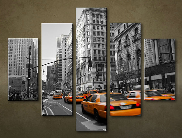 Image of Obraz na stenu 5 dielny MESTO MIA_0068_5EL (obraz na plátne)