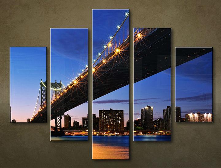 Image of Obraz na stenu 5 dielny MESTO MIA_0070_5EL (obraz na plátne)