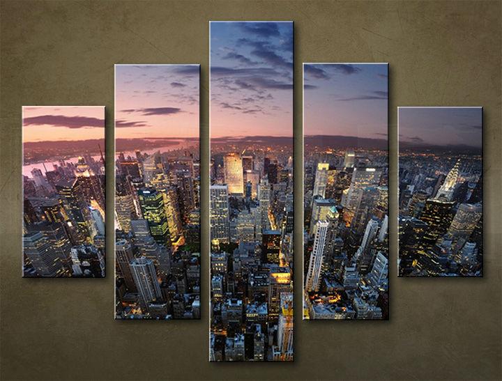Image of Obraz na stenu 5 dielny MESTO MIA_0071_5EL (obraz na plátne)
