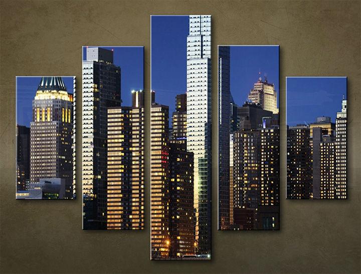 Image of Obraz na stenu 5 dielny MESTO MIA_0073_5EL (obraz na plátne)