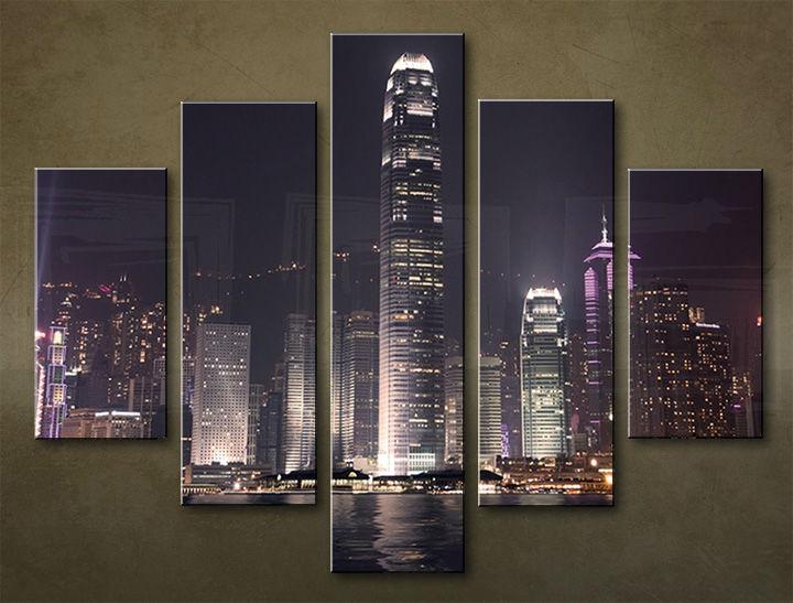Image of Obraz na stenu 5 dielny MESTO MIA_0077_5EL (obraz na plátne)