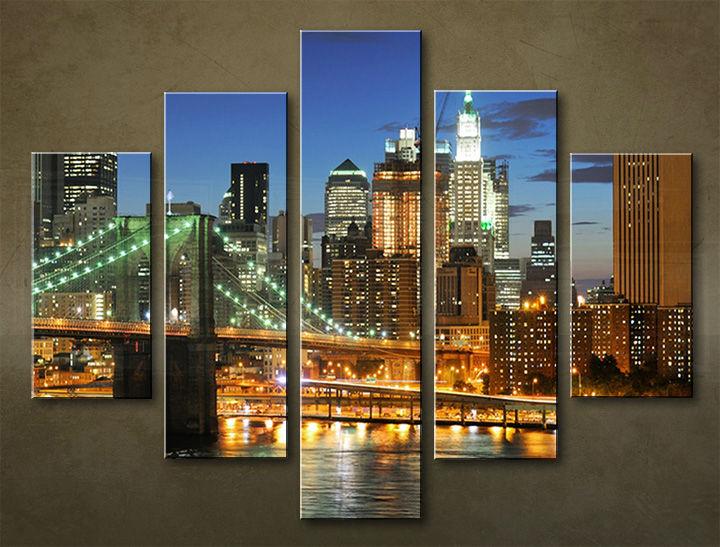 Image of Obraz na stenu 5 dielny MESTO MIA_0078_5EL (obraz na plátne)