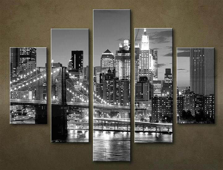 Image of Obraz na stenu 5 dielny MESTO MIA_0079_5EL (obraz na plátne)