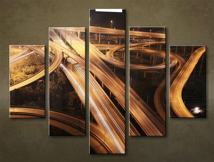 Image of Obraz na stenu 5 dielny MESTO MIA_0080_5EL (obraz na plátne)