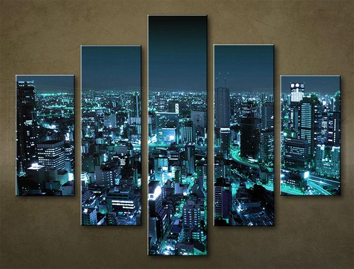 Image of Obraz na stenu 5 dielny MESTO MIA_0081_5EL (obraz na plátne)