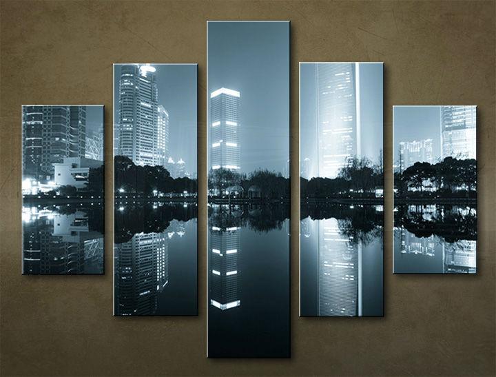 Image of Obraz na stenu 5 dielny MESTO MIA_0082_5EL (obraz na plátne)