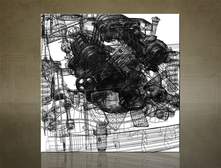 Obraz na stenu ŠTVOREC MOTO - AHD25757