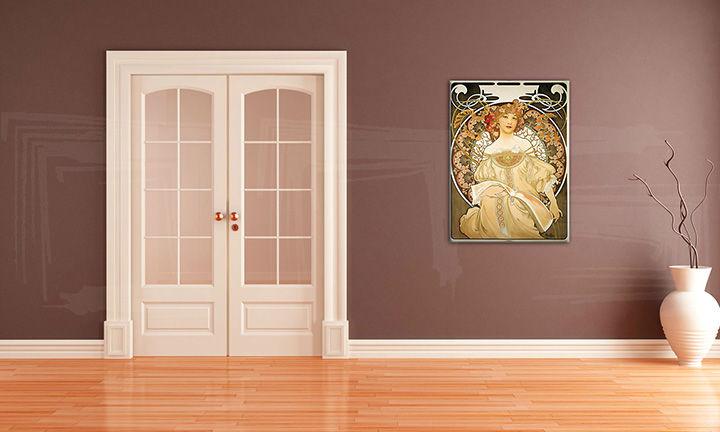 Obraz na plátne SNÍVANIE – Alfons Mucha REP085 (reprodukcia 50x70 cm)