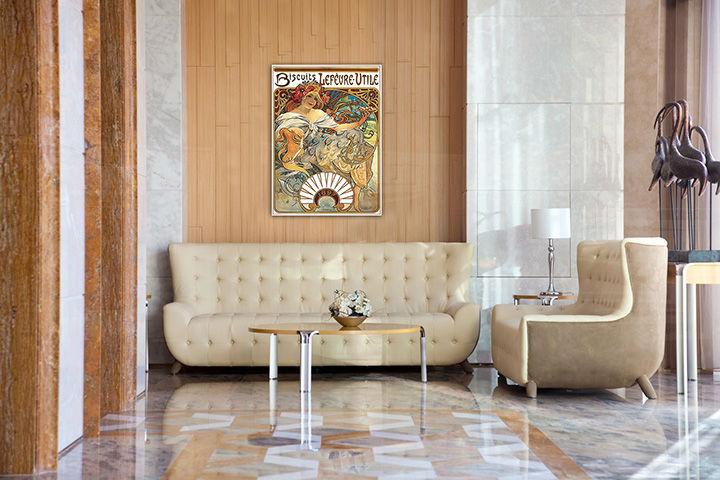 Obraz na plátne BISCUITS LEFEVRE-UTILE – Alfons Mucha REP089 (reprodukcia 70x50 cm)
