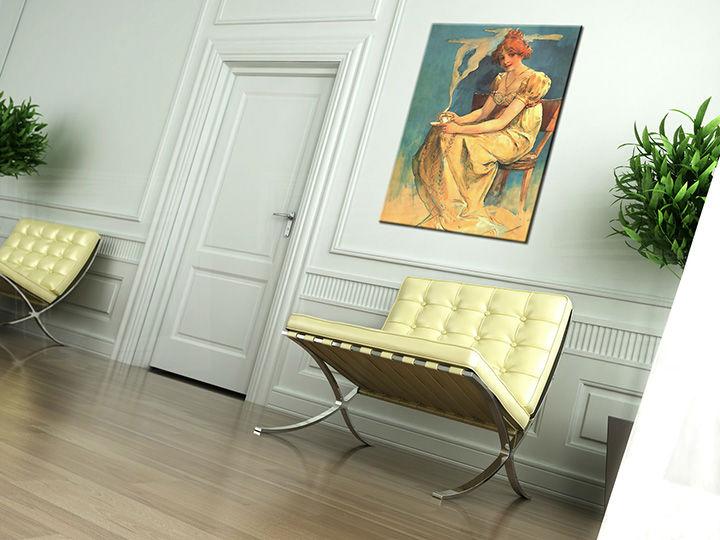 Obraz na plátne KÁVA – Alfons Mucha REP094 (reprodukcia 50x70 cm)