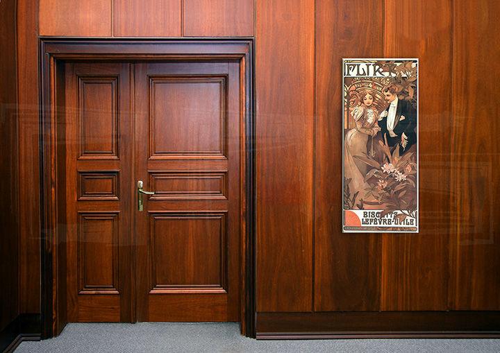Obraz na plátne FLIRT – Alfons Mucha REP098 (reprodukcia 70x30 cm)