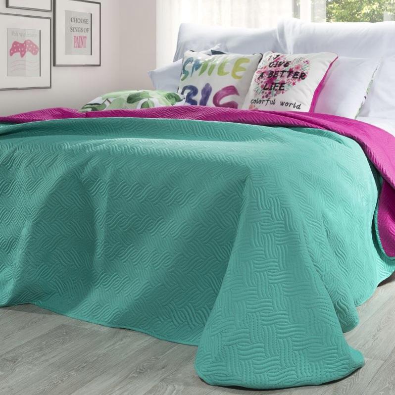 Obojstranný prehoz na posteľ FALA 220x240 cm (prehoz na manželskú posteľ )
