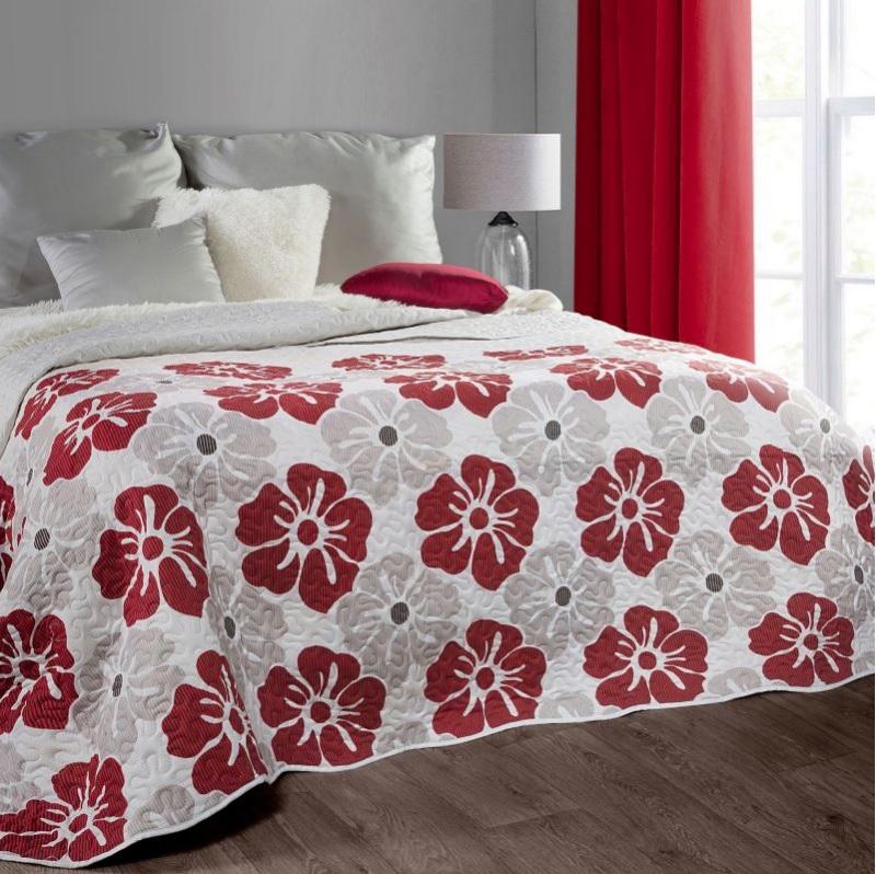 Prehoz na posteľ s kvetmi MIA 220x240 cm (obojstranný prehoz na posteľ)