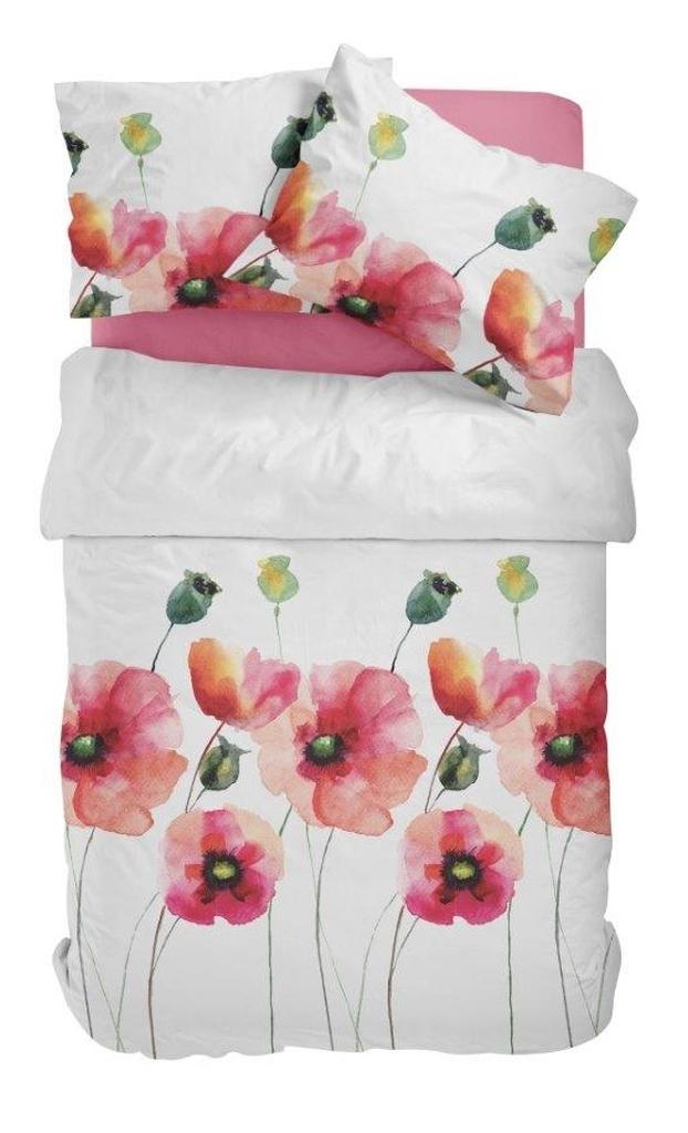 Posteľné obliečky s vlčími makmi PBC-41 200x220 cm (bavlnené posteľné obliečky)