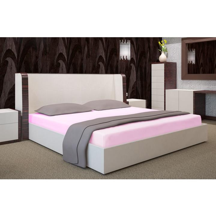 Napínacia plachta na posteľ svetlá ružová 90 x 200 cm (Plachta na jednoposteľ)