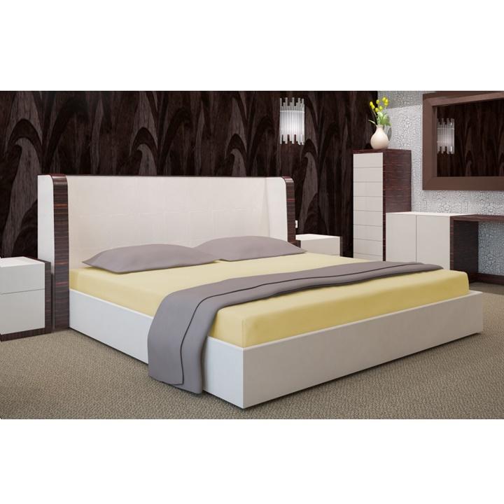 Napínacia plachta na posteľ banánová 180 x 200 cm (Plachta na dvojposteľ)