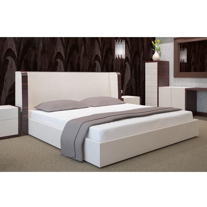 Napínacia plachta na posteľ biela 180 x 200 cm (Plachta na dvojposteľ)