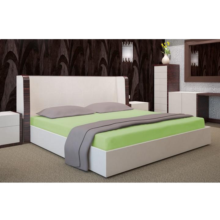Napínacia plachta na posteľ pistáciová 90 x 200 cm (Plachta na jednoposteľ)