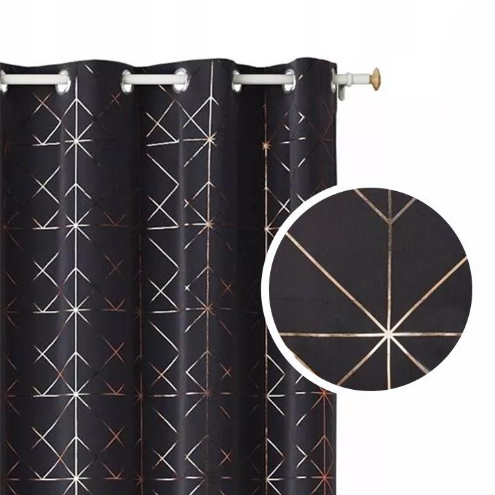 Záves GLAMMY Dark Grey 1ks 140x250cm