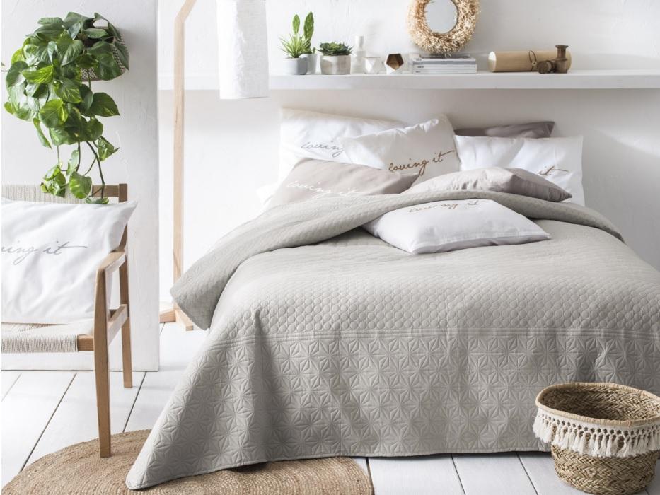 Prehoz na posteľ BUENO Beige 220x240 cm (prehoz na posteľ)