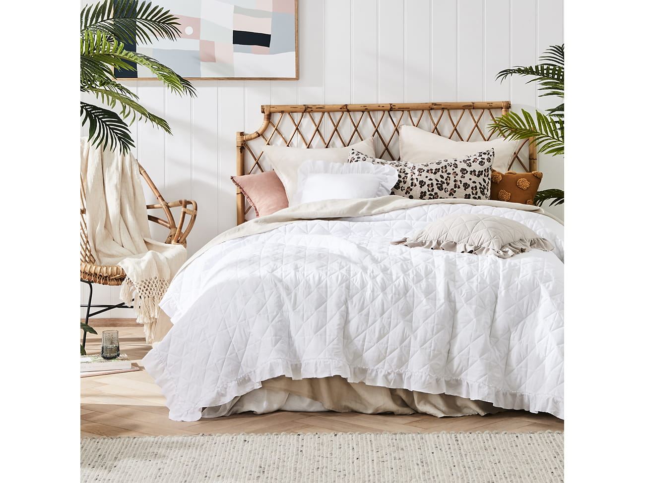 Prehoz na posteľ HAVANA White 220x240 cm (prikrývka na posteľ)