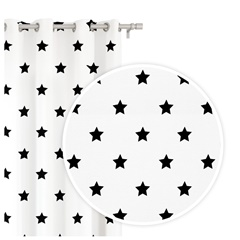 Záves STARS WHITE 1ks 140x250cm