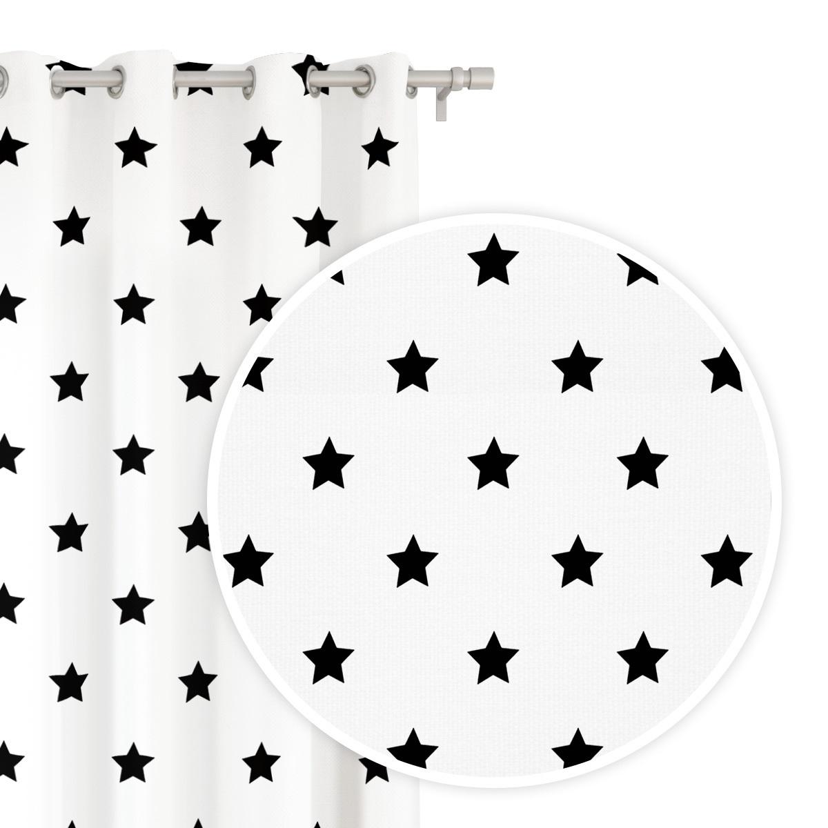 Záves STARS WHITE / 140 x 250 cm