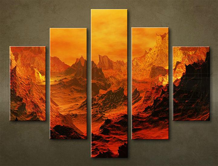 Image of Obraz na stenu 5 dielny KRAJINA WGO_0008_5EL (obraz na plátne)