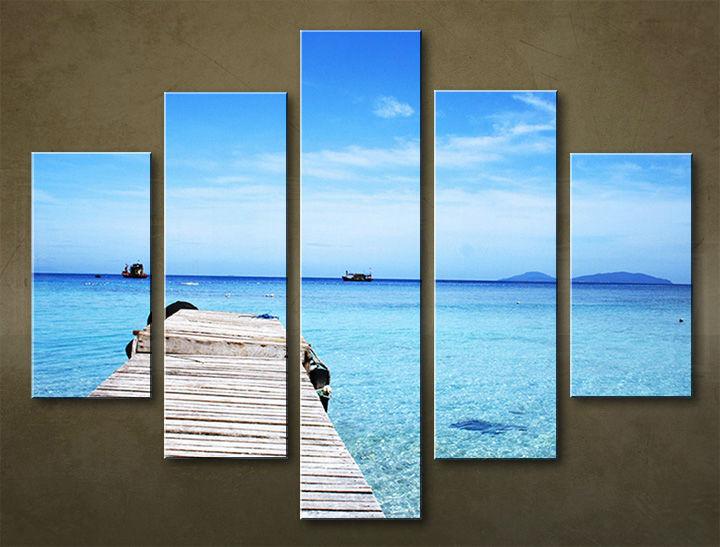 Image of Obraz na stenu 5 dielny PLÁŽ WPL_0009_5EL (obraz na plátne)