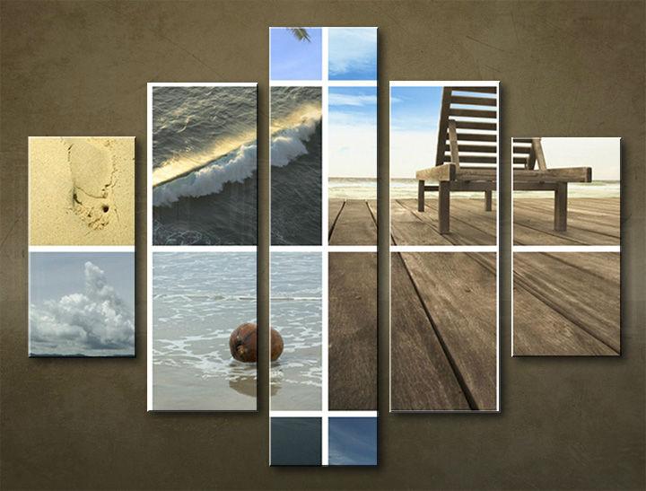 Image of Obraz na stenu 5 dielny PLÁŽ WPL_0011_5EL (obraz na plátne)