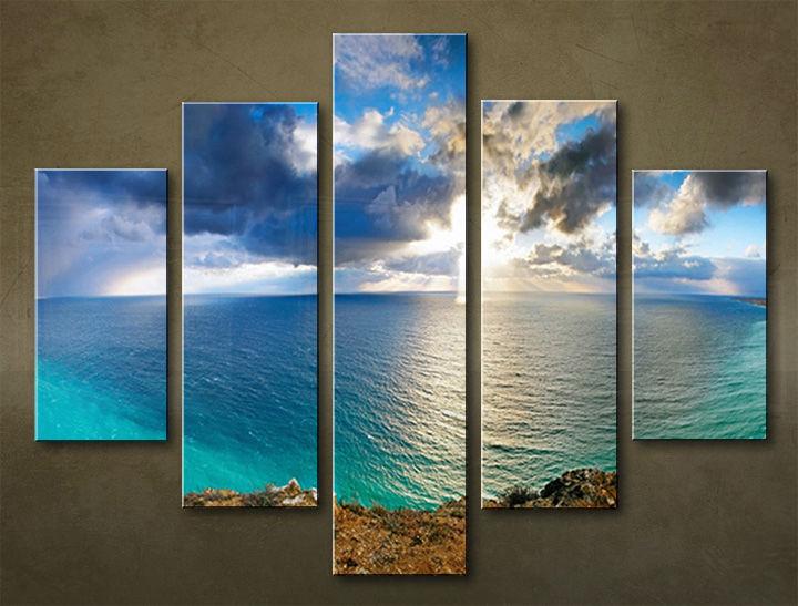 Image of Obraz na stenu 5 dielny PLÁŽ WPL_0014_5EL (obraz na plátne)