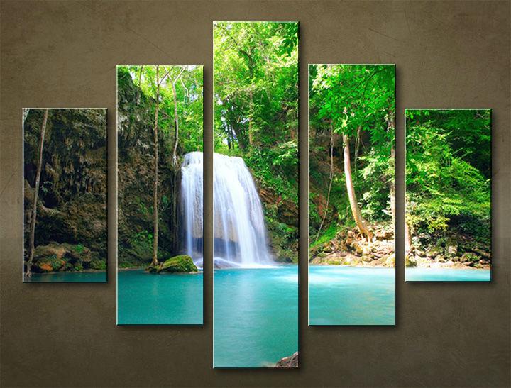 Image of Obraz na stenu 5 dielny VODOPÁDY WWO_0001_5EL (obraz na plátne)